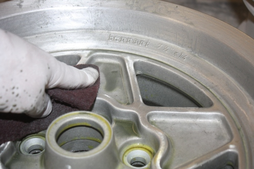 Prepping wheel with Alodine after stripping