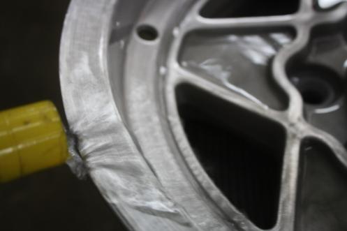 Washing wheels free of Alodine prep