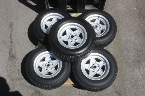 Finished wheels - mounted and balanced