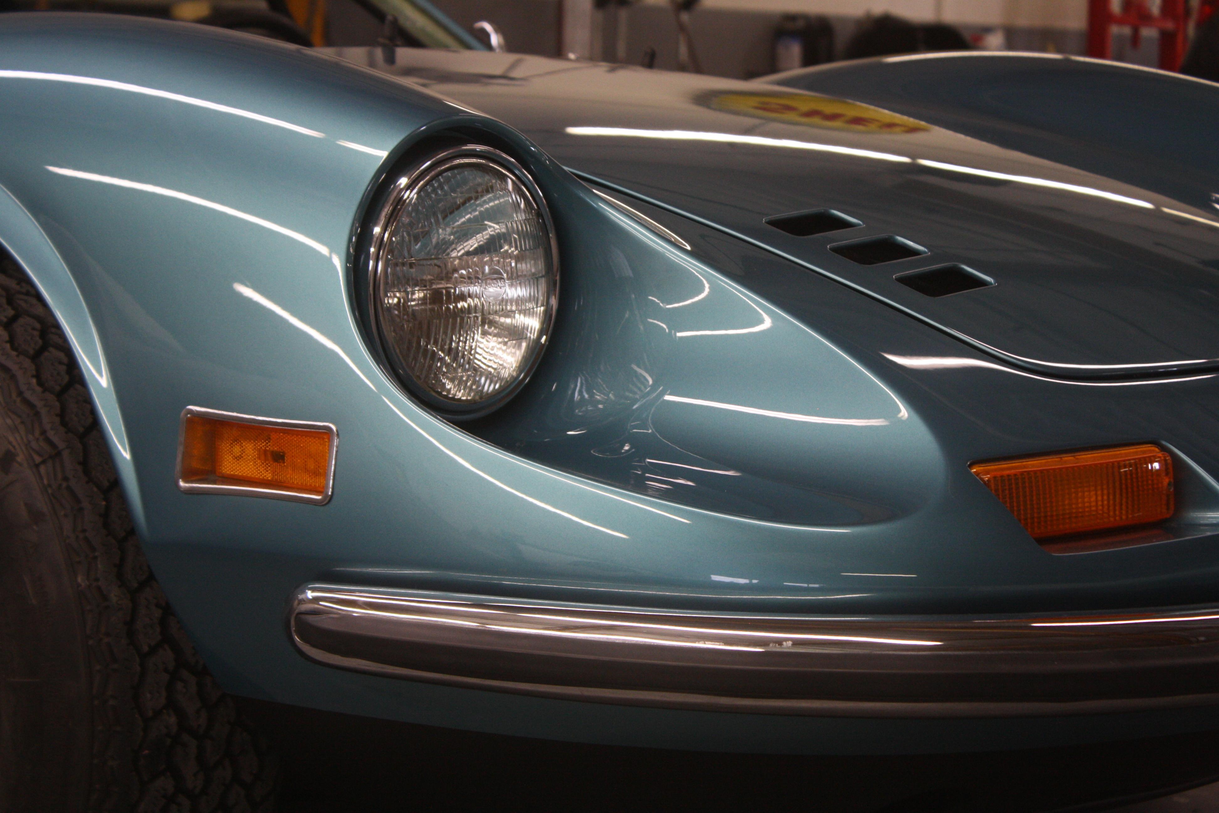 Ferrari Dino 246 Gt Blu Chiaro Metallizzato Bella