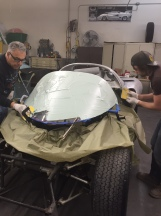 Covering windshield with bondo
